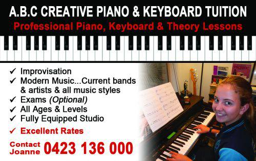 ABC Creative Piano  Keyboard Tuition